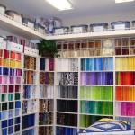 Organized quilt workroom