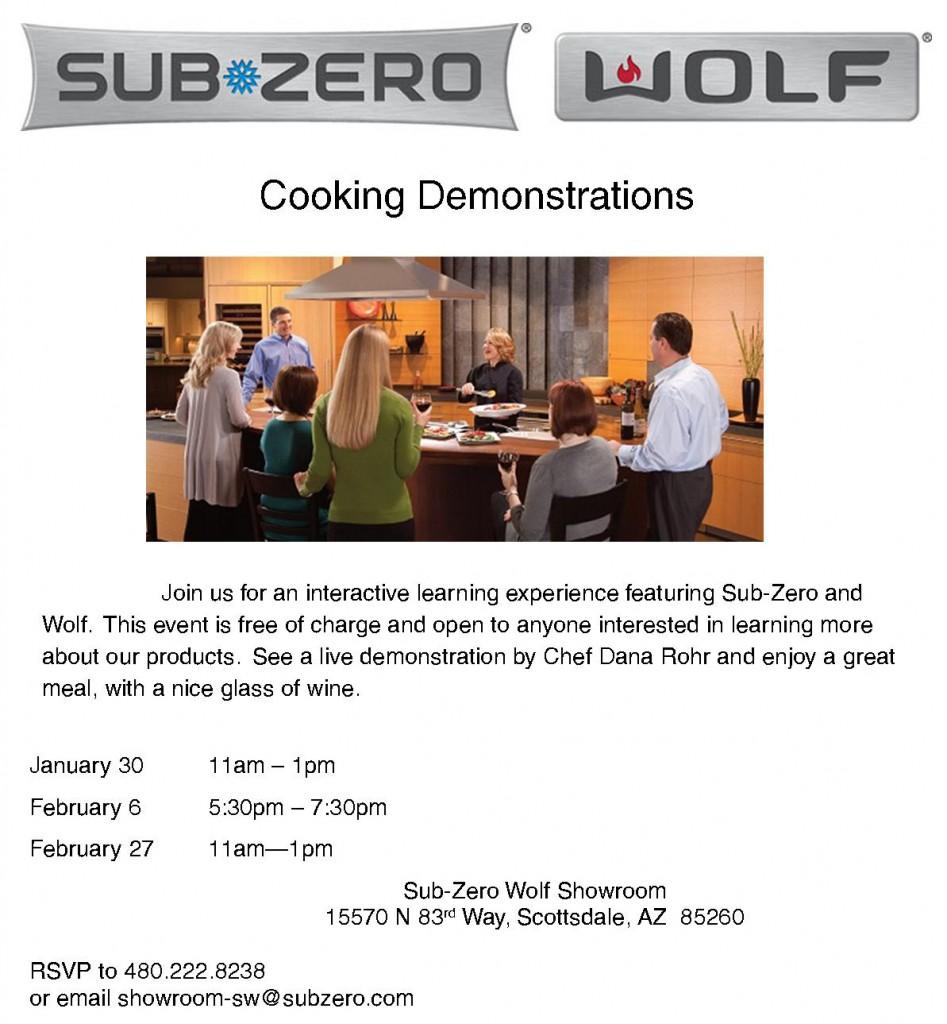 SubZero Wolf Cooking Demo Jan 30