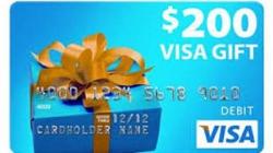 Win a $200 Visa Gift Card