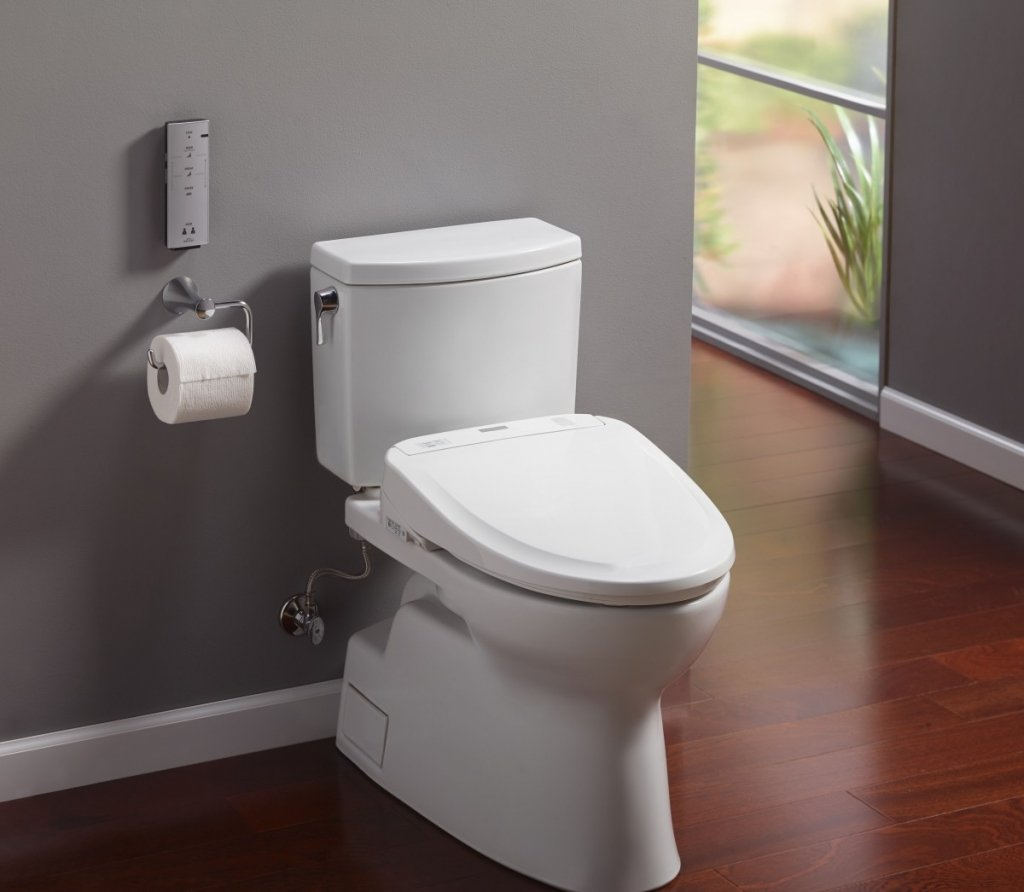 Toto washlet add on to the Toto toilet