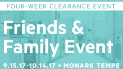 Monark Clearance Sale – Sept 15 ~ Oct 14