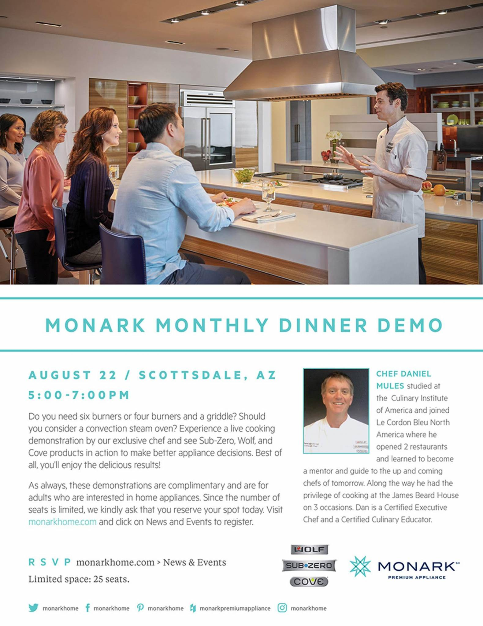 Monark Dinner Demo – Scottsdale, August 22