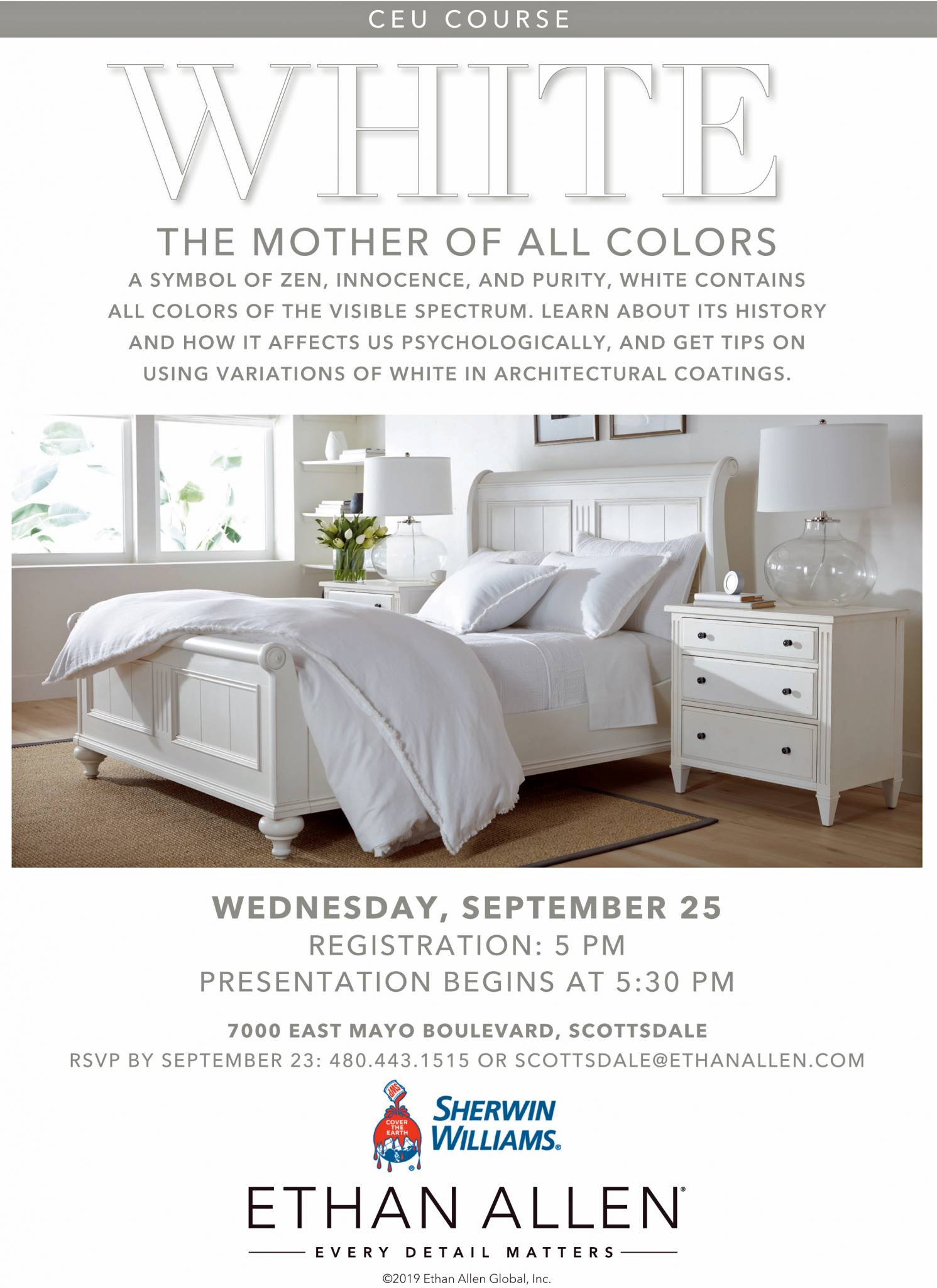 Ethan Allen & Sherwin Williams offering CEU – Sept 25