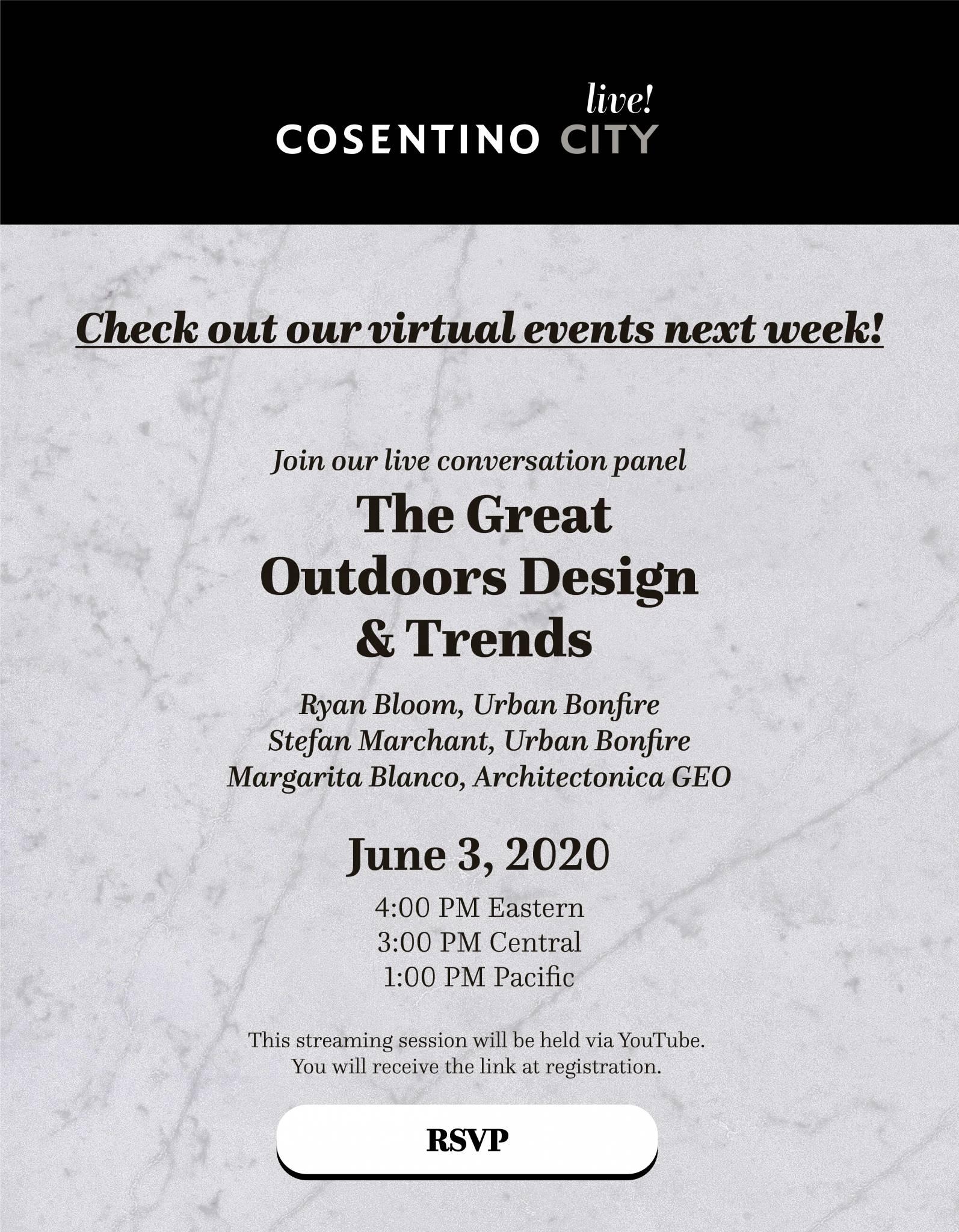 Cosentino Webinar – June 3